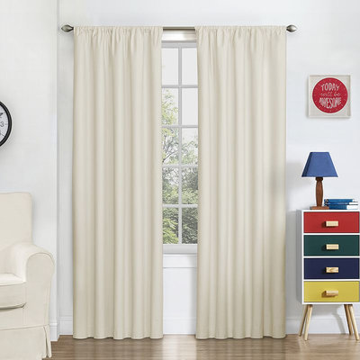 Eclipse Blackout Macklin Curtain Panel (White)