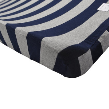 Burt`s Bees Wide Stripe Organic Changing Pad Cover, Blueberry