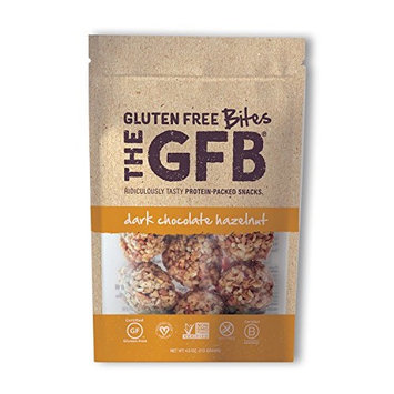 The GFB Protein Bites, Dark Chocolate Hazelnut, 4 Ounce (Pack of 6), Gluten Free, Non GMO