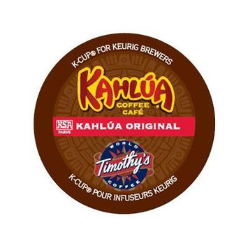 Timothy's World Coffee, Kahlua Original for Keurig Brewers, 18-Count K-Cups, Bundled with 2 Organic Green Tea Bags