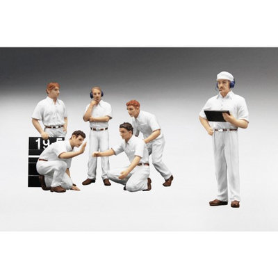 True Scale Miniatures 12AC10 F1 Pit Crew Figures Classic Style Blank White Set of 6 Piece 1-18