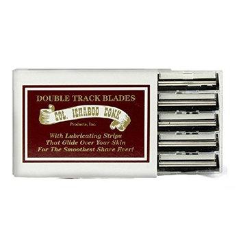 Colonel Ichabod Conk Trac II Razor Blades 10 ct. + FREE Luxury Luffa Loofah Bath Sponge On A Rope, Color May Vary