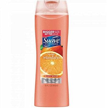 Suave Naturals Body Wash, Mango Mandarin 15 oz (10 Pack)