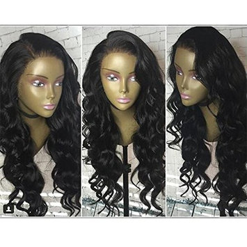 Freyja Hair 8A Unprocessed Fashion Loose Wave Brazilian Glueless Lace Front Human Hair Wigs for Black Women 130% Density Virgin Hair Lace Wigs with Baby Hair (16 inch,1B)