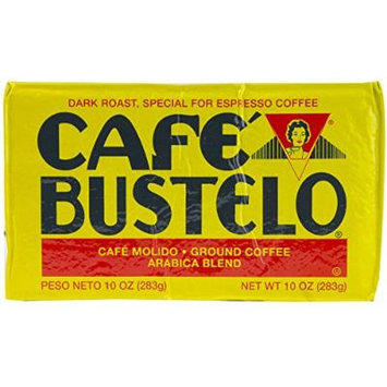 Bustelo Cafe Molido Dark Roast Ground Cuban Espresso Coffee Bricks 10 Ounce, Pack of 12