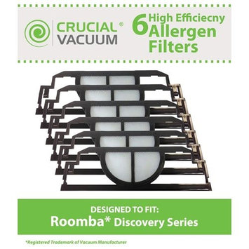 Crucial Brands Filter Kit Fits iRobot Roomba Discovery Series Vacuum Cleaners; Compare to Roomba Part# 4910, VP-RM400-3FLT, VPRM4003FLT; Designed & Engineered by Crucial Vacuum (Pack of 3)