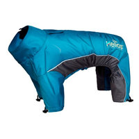 Helios Thunder-crackle Full-Body Waded-Plush Adjustable and 3M Reflective Dog Jacket, Blue Wave, X-Large