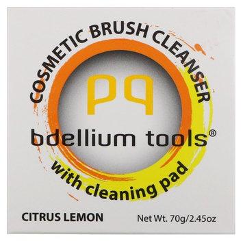Bdellium Tools, Cosmetic Brush Cleanser with Cleaning Pad, Citrus Lemon, 2.45 oz (70 g)