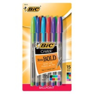 BIC® Xtra Bold Ballpoint Pens, 15ct - Multicolor