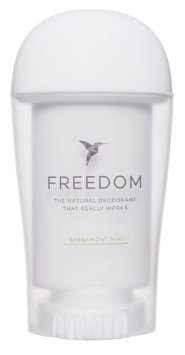 Freedom All Natural Deodorant Aluminum Free Odor Protection Tested & Loved by Cancer Survivors, Busy Execs, Military Personnel, Athletes, Healthy Moms & Kids - Bergamont Mint 1.7 oz.