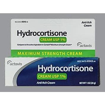 Actavis Hydrocortisone Cream 1% Maximum Strength - 1 oz, Pack of 3