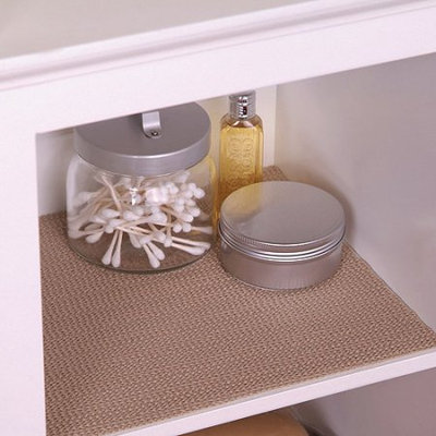 Con-Tact Brand Grip Non-Adhesive Shelf Liner, Taupe