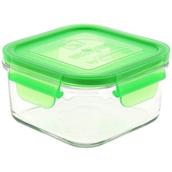 Wean Green Glass Food Storage Containers, Lunch Cube 16 ounces, Pea