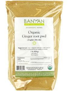 Banyan Botanicals - Organic Ginger Root Powder Zingiber Officinale - 1 lb.