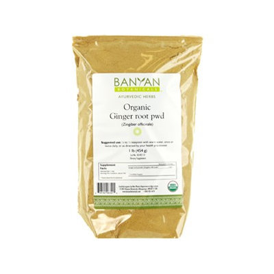 Banyan Botanicals - Organic Ginger Root Powder Zingiber Officinale - 1 lb.