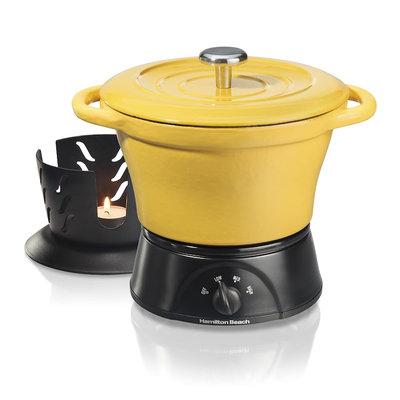 Hamilton Beach 1.5-qt. Cast-Iron Party Crock Slow Cooker, Yellow