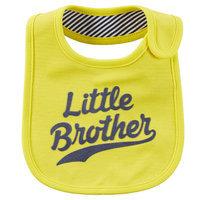 Baby Boy Carter's Family Slogan Bib, Yellow