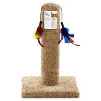 You & Me Cat Scratch Post with Feather Toys