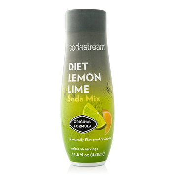 Sodastream 440 ml Fountain Style Sparkling Diet Lemon Lime Drink Mix (Case of 4)