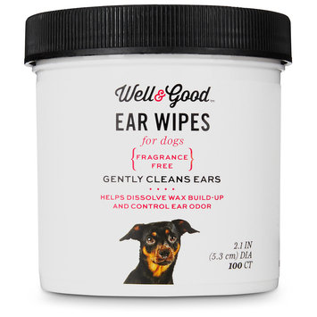 Well & Good Small Dog Ear Wipes, Pack of 100 wipes