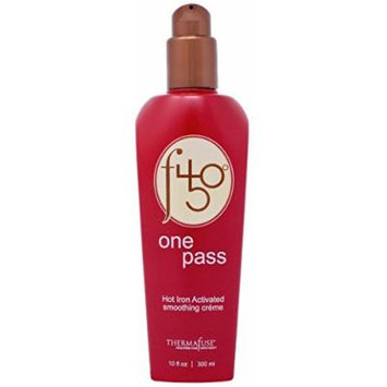 Thermafuse f450 One Pass Hot Iron Activated Smoothing Creme 10 oz Smooths & Straightens Hair w/ Thermal Heat Styling, Flat Iron and Blow Drying. Conditions, Moisturizes, Protects Damaged Hair
