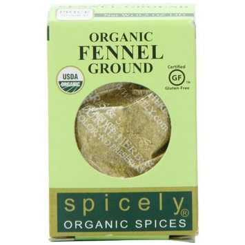 Spicely Organic Fennel Powder 0.50 Ounce ecoBox Certified Gluten Free