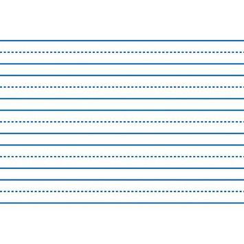 School Smart White Sulphite Skip-A-Line Paper - 3/4 Rule, 3/8 Broken, 3/8 Skip - LW