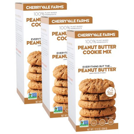 Cherryvale Farms, Peanut Butter Cookie Baking Mix, Everything But The Peanut Butter, Add Any Nut or Seed Butter, Vegan, Dairy-Free, Non-GMO, 12.5 oz (pack of 3)