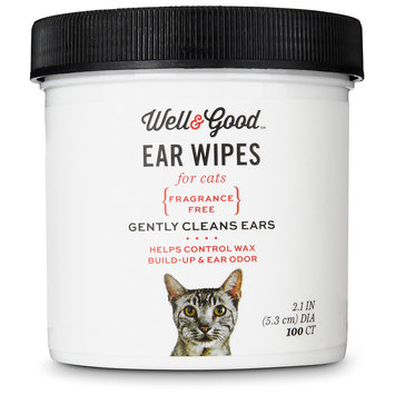 Well & Good Cat Ear Wipes, Pack of 100 wipes