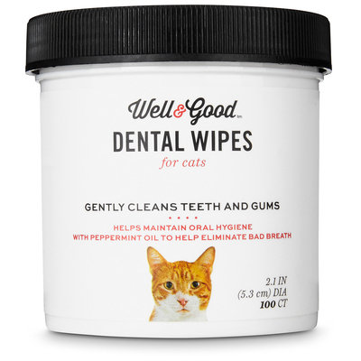 Well & Good Cat Dental Wipes, Pack of 100 wipes