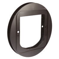 SureFlap Cat Flap Mounting Adapter in Brown, 0.75