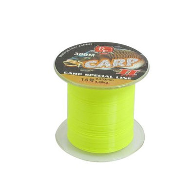 0.203mm Diameter 4.8Kg Yellow Green Nylon Freshwater Fishing Spool Line 300M