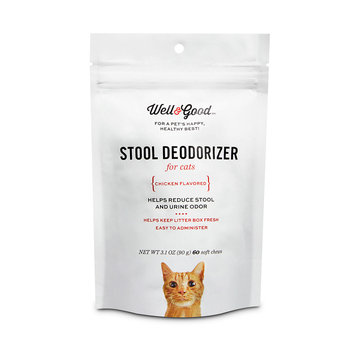Well & Good Stool Deodorizer Soft Cat Chews, Pack of 60 chews