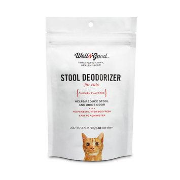 Well & Good Stool Deodorizer Soft Cat Chews, Pack of 60 chews