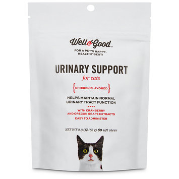 Well & Good Urinary Support Cat Chews, Pack of 60 chews