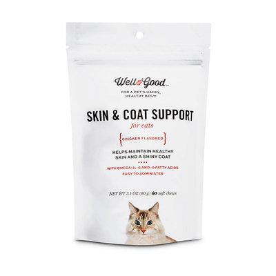 Well & Good Skin & Coat Support Cat Chews, 3.1 oz.