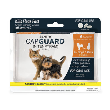 Sergeants Pet Care Prod-inc- Sergeants Pet Care Prod. ZE02050 Sentry Capguard Flea Tablets - Cat 2-25 lbs. 6 Count