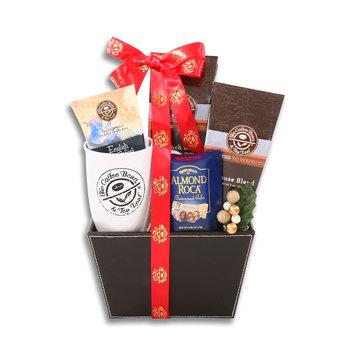 Alder Creek Gifts Alder Creek Coffee Bean & Tea Leaf Leather Gift Basket 2 lbs