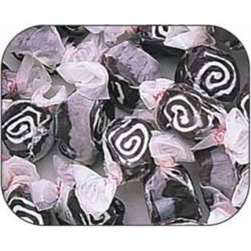 Licorice Black & White Cowhide Gourmet Salt Water Taffy 1 Pound Bag
