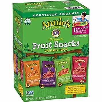 Annie's XYX Organic Bunny Fruit Snacks, Variety Pack,