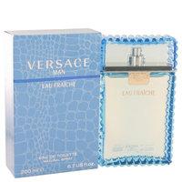 Versace Man by Versace Eau Fraiche Eau De Toilette Spray (Blue) 6.7 oz (Pack of 2)