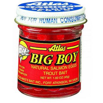 Atlas Mike's Big Boy Salmon Fishing Bait Eggs, 1.6-Ounce, Red