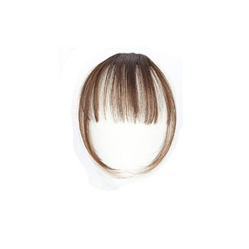 GreatFun Clip On Clip in Front Hair Bang Fringe Hair Extension Piece Thin for Pretty Girls Women (D)