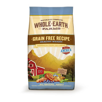 Animal Supply Company WE85556 Whole Earth Grain Free Healthy Weight 4 lbs.