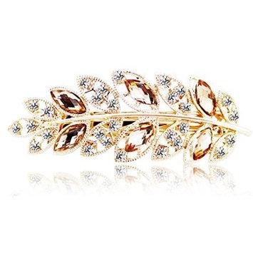 Binmer(TM) Women Vintage Leaves Hair Clips Jewelry Crystal Hair Clips Hairpins for Hair Clip Tools (G