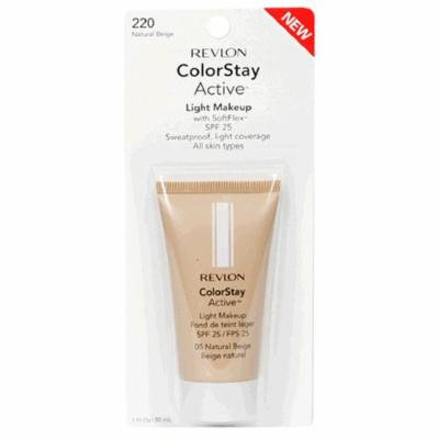 Revlon ColorStay Active Light Makeup with SoftFlex, All Skin Types, Natural Beige 220/05, 1 Ounce (Pack of 2)