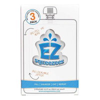 EZ Squeezees Refillable Food Pouches,sold in pack of 3. 3 pouches each, 6.5 fl oz