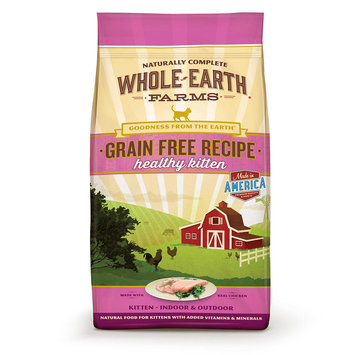 Whole Earth Farms Grain Free Real Chicken Kitten Food, 2.5 lbs.