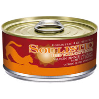 Soulistic Moist & Tender Salmon Dinner Adult Canned Cat Food in Gravy, 5.5 oz, Case of 8