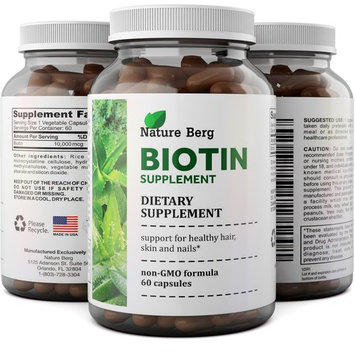 Pure + Potent Biotin Vitamins – Promotes Hair Growth + Prevents Hair Loss - Introduces Better Skin + Hair + Nails - Natural Supplement for Men and Women- Helps Promote Faster Metabolism